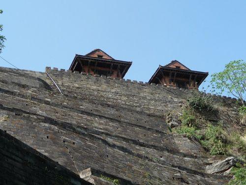 Les muraille de Gorkha durbar