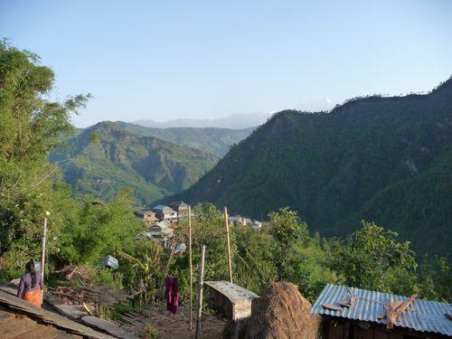 Notre petit village de Kumartari, vue depuis notre chambre...