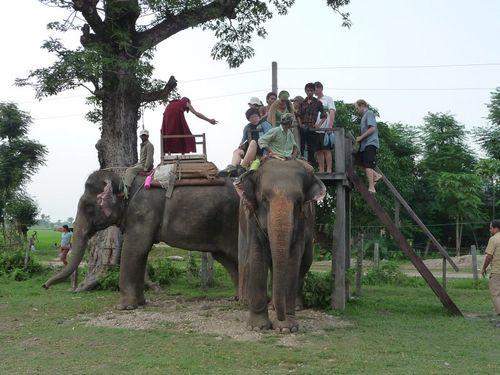 Embarcadere pour le safari