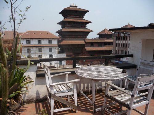 Petite terrasse de notre premier hotel